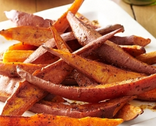 Cinnamon Sweet Potato Wedges
