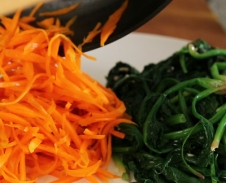 Sauteed Spinach and Carrots